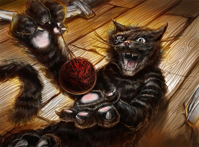 Игра про черный кот